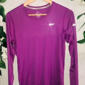 Nike Running Long Sleeve Activewear Top Size M